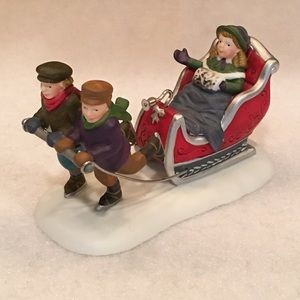 "Dept 56, Dickens Village, ""Winter Sleighride"""